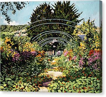The Grande Alle Monet's Garden Canvas Print by David Lloyd Glover