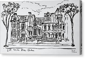 The Grande Allee, Quebec City, Quebec Canvas Print