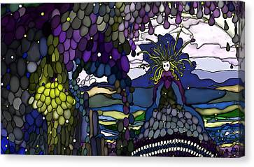 The Grape Arbor Medusa Canvas Print by Constance Krejci