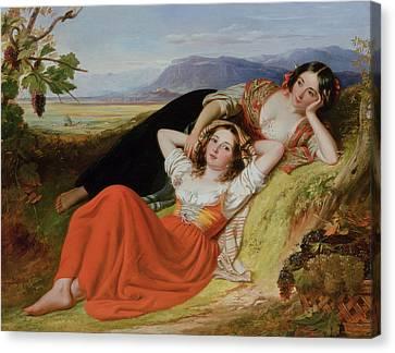 The Grape Harvest Canvas Print by Robert McInnes