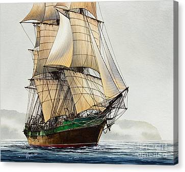 The Great Age Of Sail Canvas Print by James Williamson
