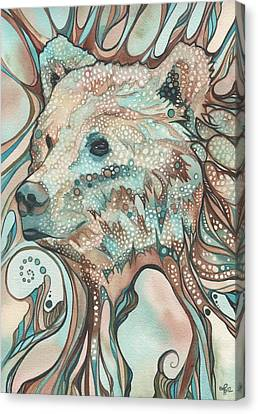 Canvas Print featuring the painting The Great Bear Spirit by Tamara Phillips