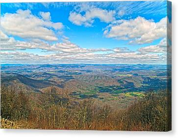 The Great Blue Ridge Parkway Canvas Print by Betsy Knapp