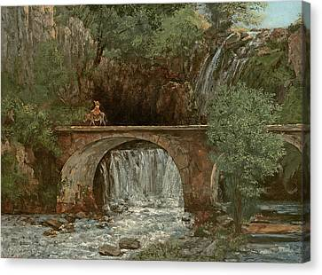 The Great Bridge, 1864 Canvas Print by Gustave Courbet