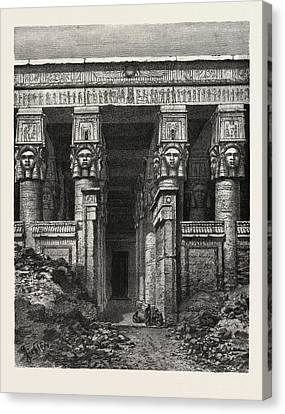 Dendera Canvas Print - The Great Court Of Heaven by Litz Collection