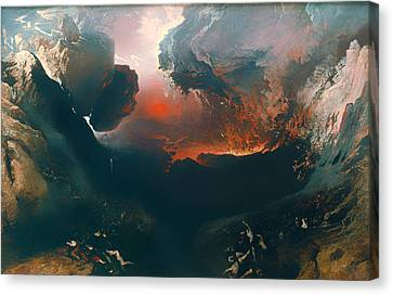 The Great Day Of His Wrath Canvas Print by Mountain Dreams