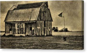 The Great Depression Barn Canvas Print by Dan Sproul