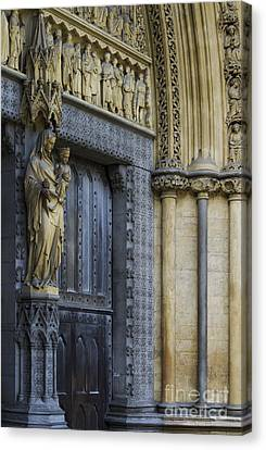 Westminster Abbey Canvas Print - The Great Door Westminster Abbey London by Tim Gainey