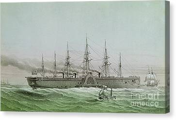 The Great Eastern Laying Electrical Cable Between Europe And America Canvas Print