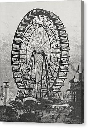 The Great Ferris Wheel In The World Columbian Exposition, 1st July 1893 Canvas Print by American School
