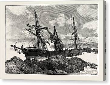 The Great Gale And Snow Storm Wreck Of The Bay Of Panama Canvas Print