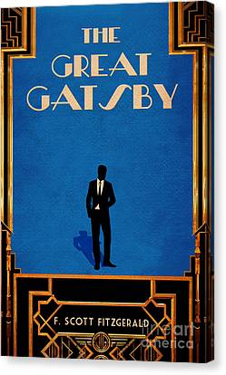 The Great Gatsby Book Cover Movie Poster Art 1 Canvas Print by Nishanth Gopinathan