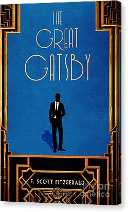 The Great Gatsby Book Cover Movie Poster Art 2 Canvas Print by Nishanth Gopinathan