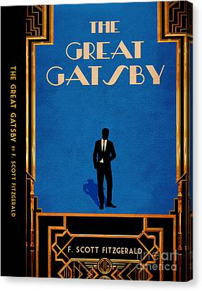 The Great Gatsby Book Cover Movie Poster Art 4 Canvas Print by Nishanth Gopinathan