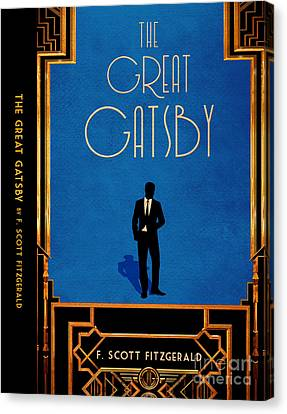 The Great Gatsby Book Cover Movie Poster Art 5 Canvas Print by Nishanth Gopinathan