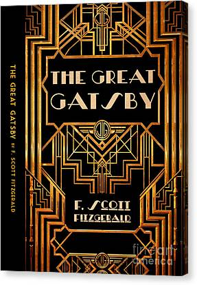 The Great Gatsby Book Cover Movie Poster Art 6 Canvas Print by Nishanth Gopinathan