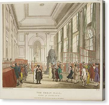 The Great Hall Canvas Print by British Library