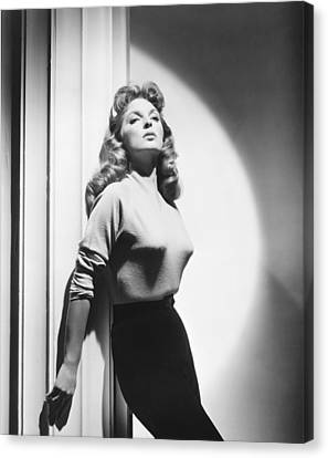 1956 Movies Canvas Print - The Great Man, Julie London, 1956 by Everett