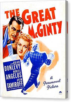 Sturges Canvas Print - The Great Mcginty Aka Down With by Everett
