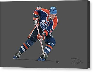 Gretzky Canvas Print by Charley Pallos
