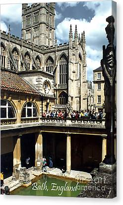 The Great Roman Bath Canvas Print by Linda  Parker