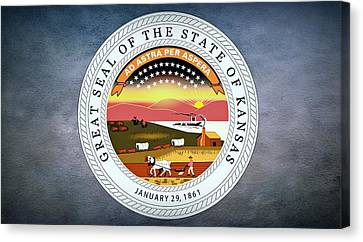 The Great Seal Of The State Of Kansas  Canvas Print by Movie Poster Prints