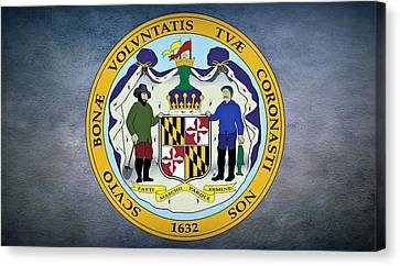 The Great Seal Of The State Of Maryland  Canvas Print