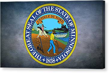 The Great Seal Of The State Of Minnesota Canvas Print