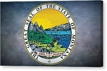 The Great Seal Of The State Of Montana Canvas Print by Movie Poster Prints