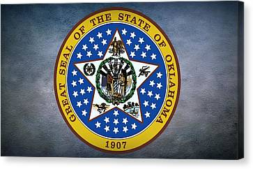 The Great Seal Of The State Of Oklahoma Canvas Print by Movie Poster Prints