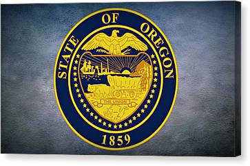 The Great Seal Of The State Of Oregon  Canvas Print
