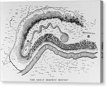 The Great Serpent Mound, Near Locust Grove, Ohio, Second Century Bc, From Narrative And Critical Canvas Print