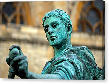 The Great Statue Canvas Print by Chris Whittle