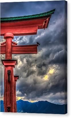Floating Torii Canvas Print - The Great Torii by Gary Fossaceca