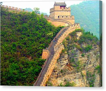 Canvas Print featuring the photograph The Great Wall 2 by Kay Gilley