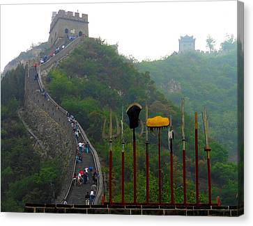 Canvas Print featuring the photograph The Great Wall by Kay Gilley