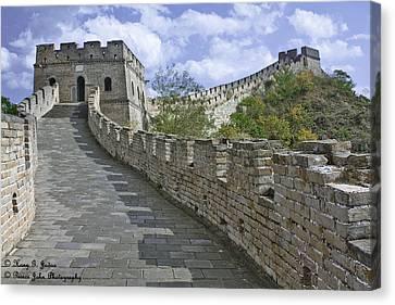 The Great Wall Of China At Mutianyu 1 Canvas Print