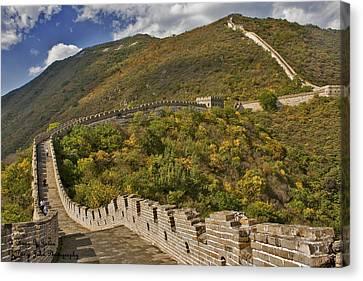 The Great Wall Of China At Mutianyu 2 Canvas Print