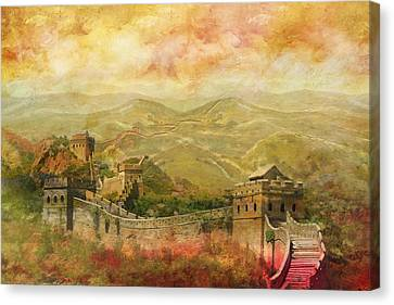 The Great Wall Of China Canvas Print by Catf