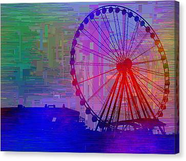The Great  Wheel Cubed Canvas Print by Tim Allen