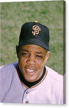 Gold Glove Canvas Print - The Great Willie Mays by Retro Images Archive