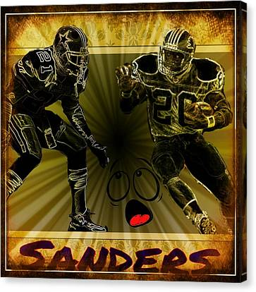 Barry Sanders Canvas Print - The Greatest by Edward Cormier Jr
