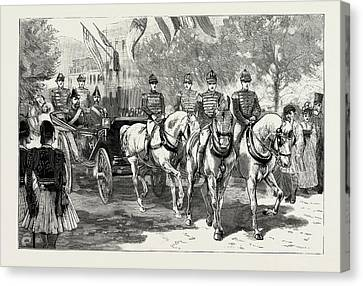 The Greek Royal Wedding, Arrival Of The Royal Party Canvas Print by Litz Collection