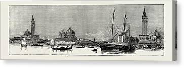 The Greek Royal Wedding At Athens The Royal Yacht Osborne Canvas Print by Litz Collection