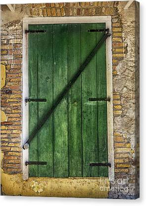 The Green Door Canvas Print by Betty LaRue