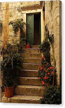 The Green Door Canvas Print by John Jacquemain