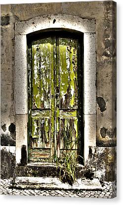 The Green Door Canvas Print by Marco Oliveira