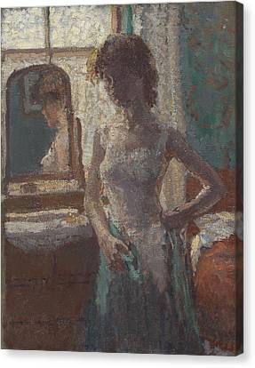 The Green Dress, 1908-09 Canvas Print
