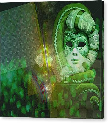 Canvas Print featuring the digital art The Green Lady by Melissa Messick