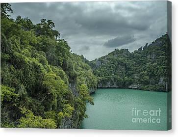 Angthong Canvas Print - The Green Laguna by Michelle Meenawong